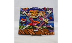 ROMERO BRITTO-FORMELLA-LOVE BLOSSOMS
