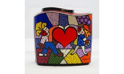 ROMERO BRITTO-VASO-HEART KIDS