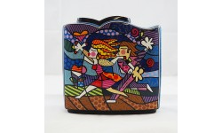 ROMERO BRITTO-VASO-LOVE BLOSSOMS